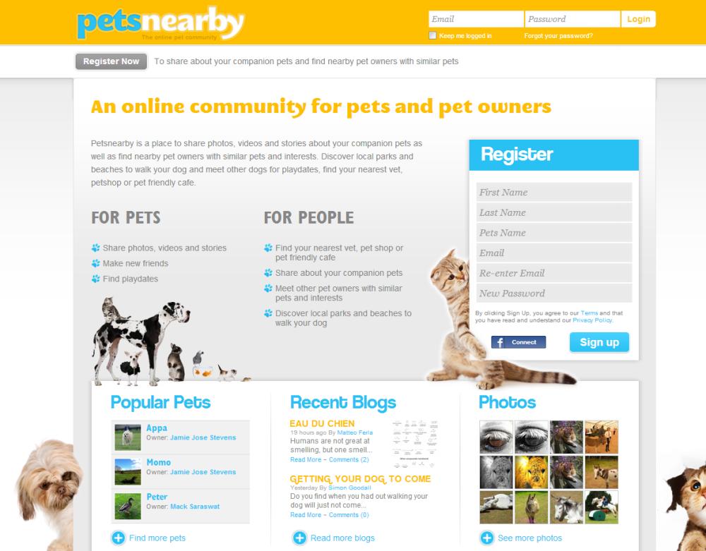Nueva red social para mascotas: Petsnearby