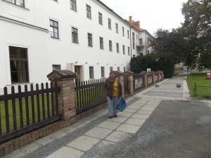 Lidia en la abadía donde trabajó Mendel