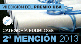 2da mención-Premio UBA 2013 a la divulgación de contenidos 