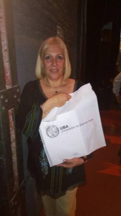 Con mi entrega del premio UBA 2016