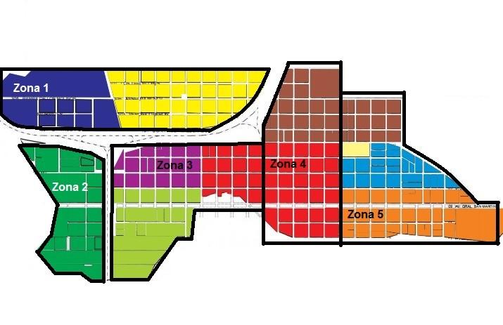 Mapa Choele Choel y sus zonas
