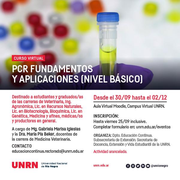 Curso de PCR de nivel básico online 2020